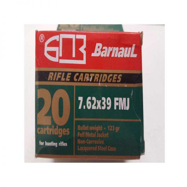 cartouche BARNAUL cal 7 62x39FMJ 123 gr