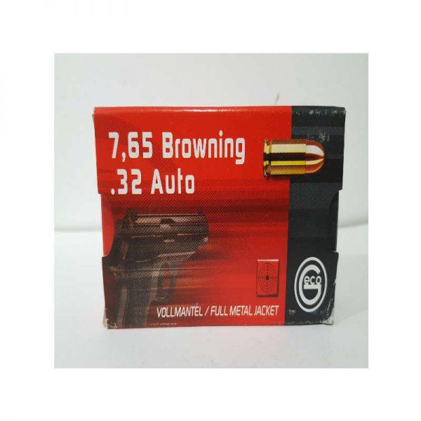 cartouche GECO CAL 7. 65 BROWNING Auto