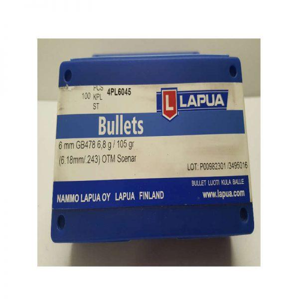 ogive LAPUA 6mm 105gr